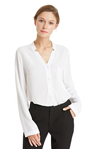 Lilysilk Camisa Mujer 100% Seda Natural DE 18 Momme Cuello V