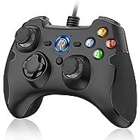 Mandos PS3 Gamepad PC, [Regalos Navidad] EasySMX Mando PC , PS3 , Controller PC/PS3, Controlador PC, Joystick con Doble…