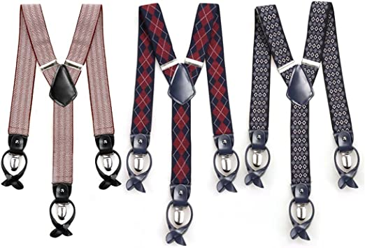 Button End Suspenders Accessories by Grade Code Black Buttons
