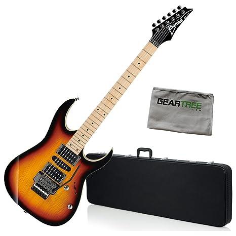 Ibanez rg470ahmtfb RG estándar guitarra eléctrica – Tri Color Burst W/Carcasa rígida y gamuza