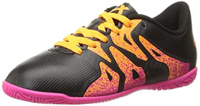 adidas Performance X 15.4 Indoor Soccer Shoe (Little Kid/Big Kid),Black