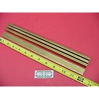 "1//8/"" x 1/"" C360 BRASS FLAT BAR 12/"" long Solid .125/"" Plate Mill Stock H02"