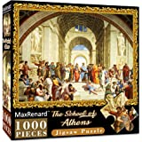 MaxRenard 1000 Pieces Puzzle for Adults The School of Athens Raffaello Santi Jigsaw Puzzles of Famous Paintings Challenge Gam