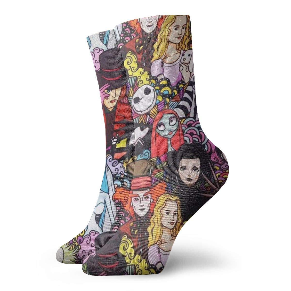 Cartoon Figure Unisex Funny Casual Crew Socks Athletic Socks For Boys Girls Kids Teenagers
