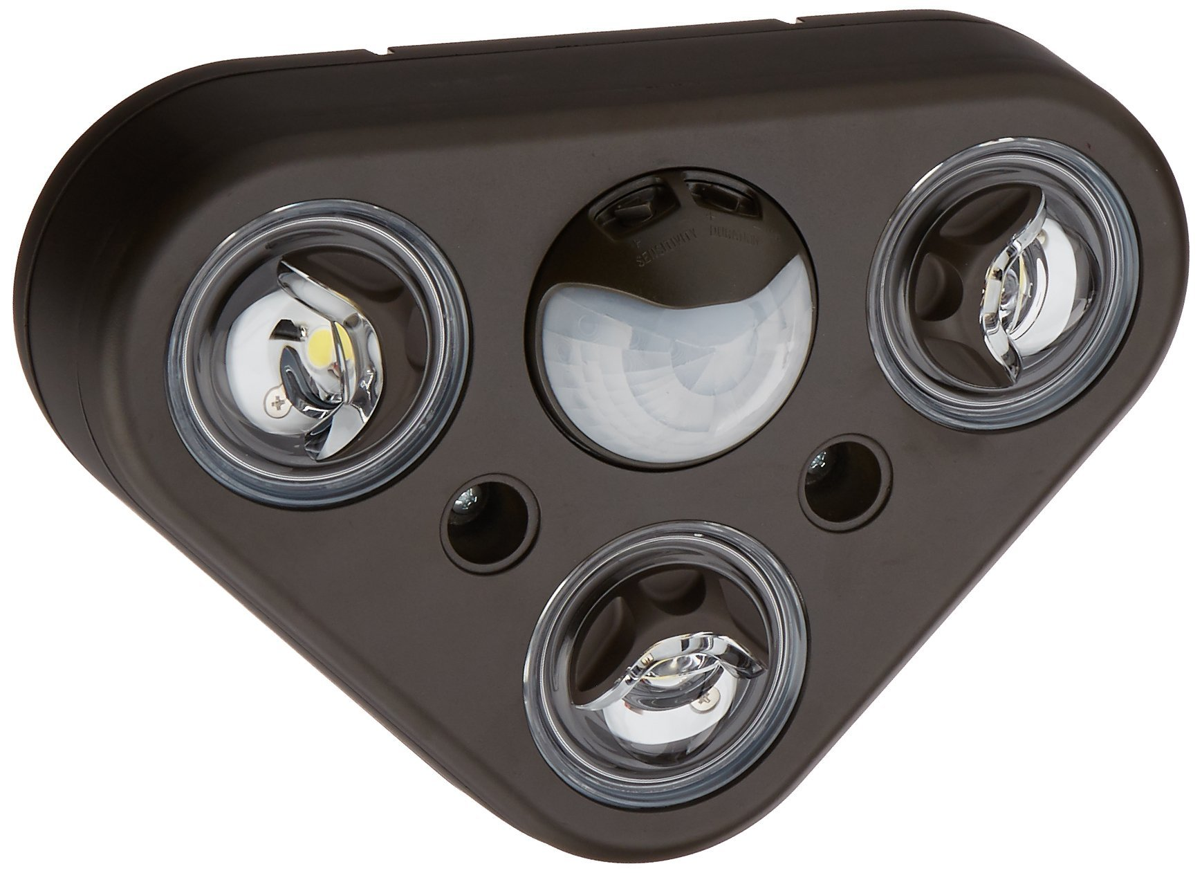 All-Pro REV32750M All-Pro Revolve Led Triple Head 270 Degree Motion Security Light, 2400 Lumens, Bronze, 5000K