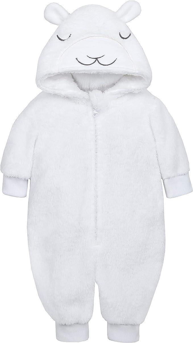 Babies Novelty Lamb Hood Soft Fleece Onezee