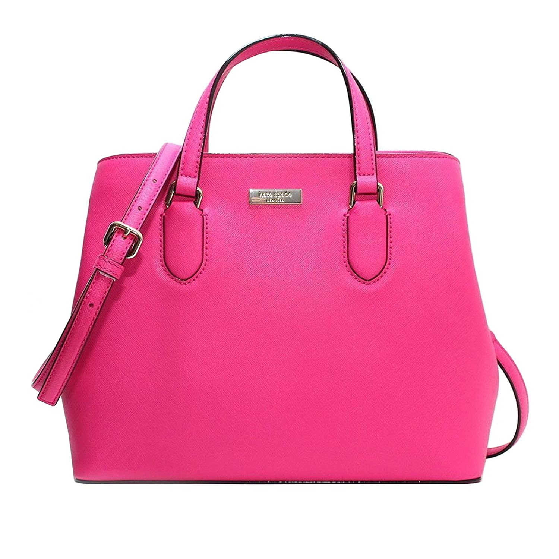 Kate Spade Evangelie Laurel Way Safiano Leather Peony Pink Satchel Crossbody Top Handle Handbag WKRU3930