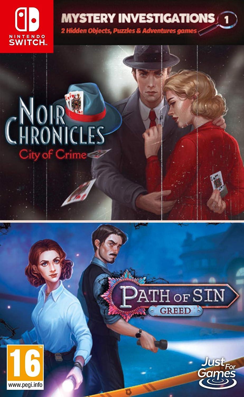 Mystery Investigations 1: Noir Chronicles: City of Crime + Path of Sin: Greed - Nintendo Switch [Importación inglesa]: Amazon.es: Videojuegos