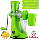 Famous One Stop Shop Ambition Fruit And Vegetable Juicer With Steel Handle And Waste Collector (Multicolor)