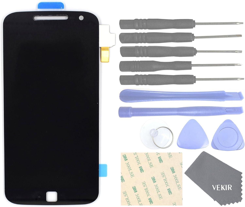 VEKIR Repuestos de teléfonos celulares para Motorola Moto G4 Plus XT1641 XT1642 Pantalla Completa Pantalla táctil digitalizador [SIN Marco de Pantalla](Black): Amazon.es: Electrónica