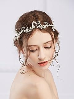 Handcess strass fascia da sposa capelli ghirlanda di vite corona e ... ffc8d263cc88