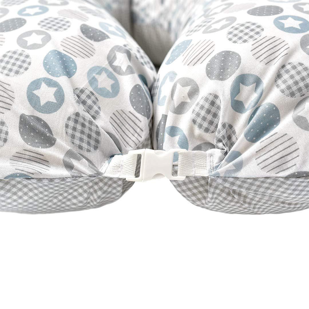 Schwangerschaftskissen Lagerungskissen Seitenschl/äfer-Kissen Bezug 100/% Baumwolle Dino mint Made in Europa von Sei Design /Ökotex XXL Stillkissen 1x Extra Stillkissenbezug