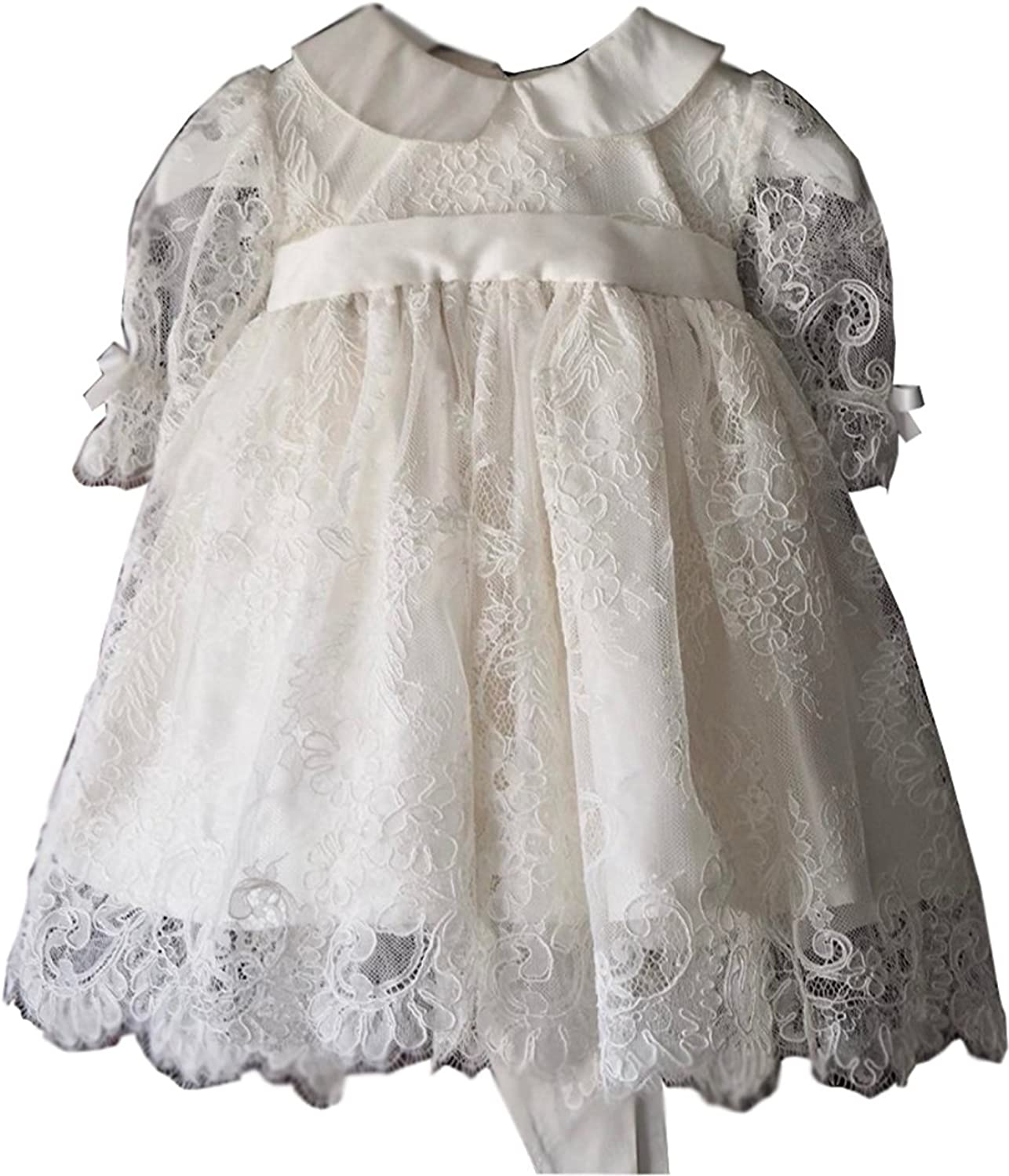 Kelaixiang Christening Gown Baby Girl Lace Toddler DEDICATION Dress For Age 0-24 Months