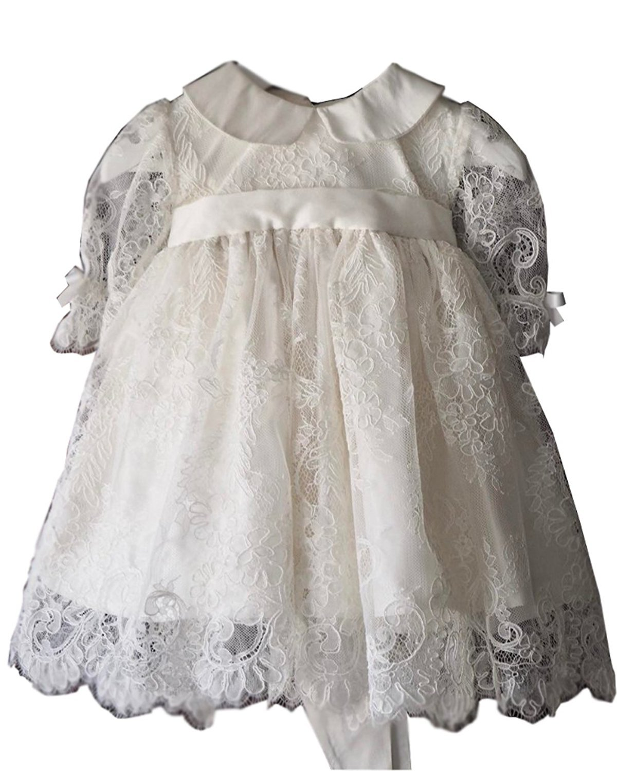Banfvting Lace Infant Christening Gowns Baby Girls Dress Long