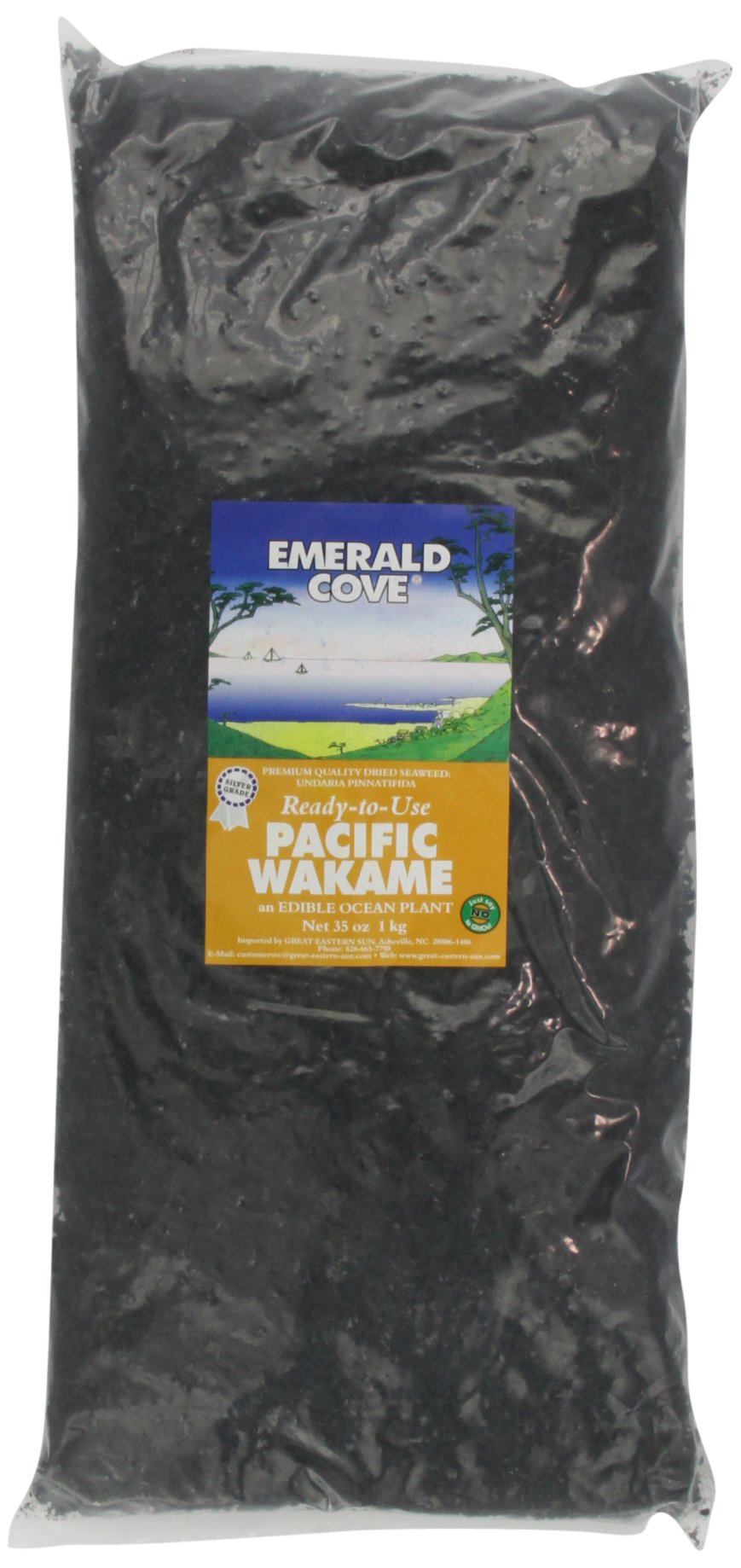 Emerald Cove Ready-to-Use Pacific Dried Seaweed Bag, Wakame, 35 Ounce