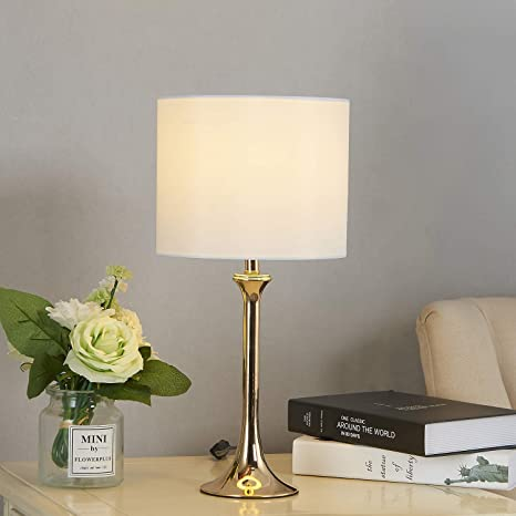 Cuaulans Simple Design Table Lamp Gold Table Lamps 18 Side