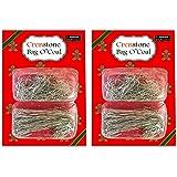 Christmas Ornament Hooks Hangers Bulk Pack ~ 500 Silver Hooks Christmas Ornament Crafts Kits Decorating Christmas Trees (Christmas Crafting Supplies)