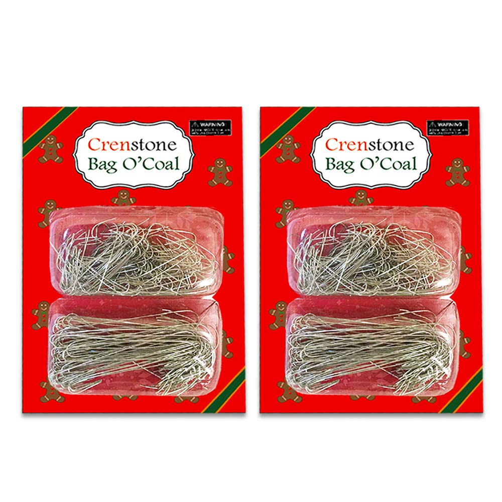 Christmas Ornament Hooks Hangers Bulk Pack ~ 500 Green Hooks Christmas Ornament Crafts Kits Decorating Christmas Trees (Christmas Crafting Supplies) Crenstone