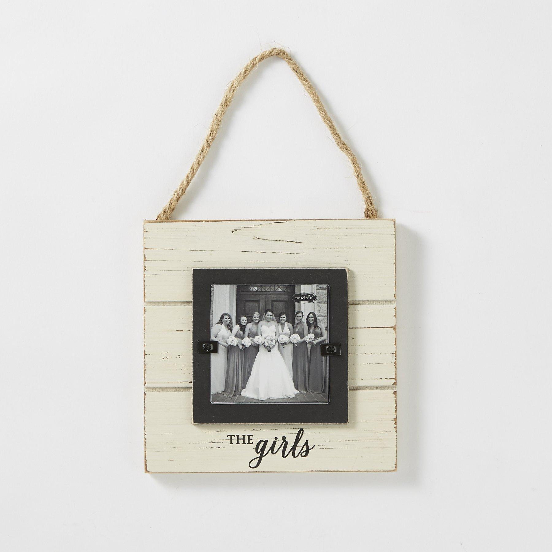 Mud Pie ''The Girls'' Door Hanger Frame, 3 1/2 x 3 1/2''