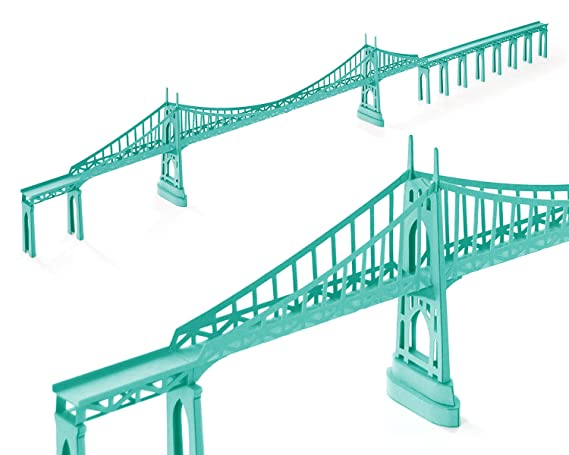 Amazon.com: paperlandmarks St Johns Puente Paper Modelo Kit ...