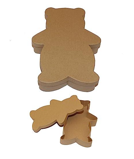 Casa Ydeal Store Cajas de Cartón con Forma de Animales (Pack de 6) (