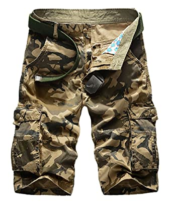 moda firmata consegna veloce buon servizio CeRui Cargo Pantaloncini Vintage da Uomo Stile Militare Pantaloni Carhartt  Cargo
