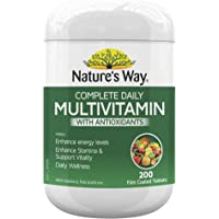 Nature's Way Complete Daily Multivitamin Tablets, 200 count, Pack of 200