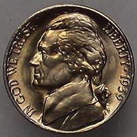 1939 -D Jefferson Nickel (straight steps V2) - Choice/Gem BU US Coin
