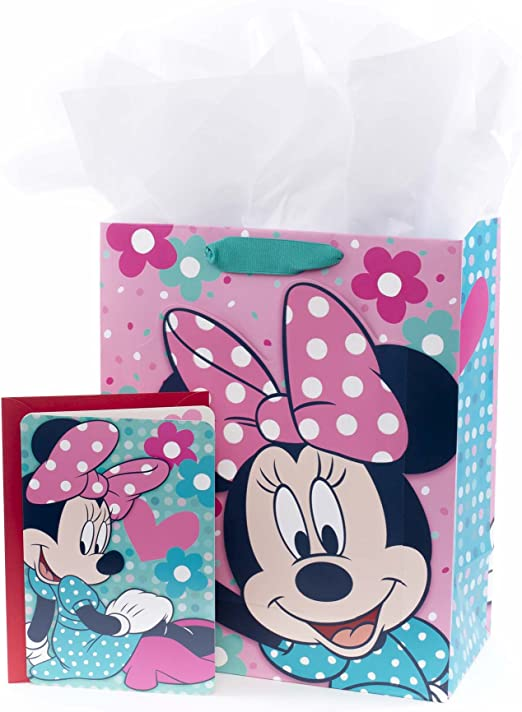 Minnie Mouse Disney Pink with White Spotted Polka Dot Pattern Girls Handbag NEW