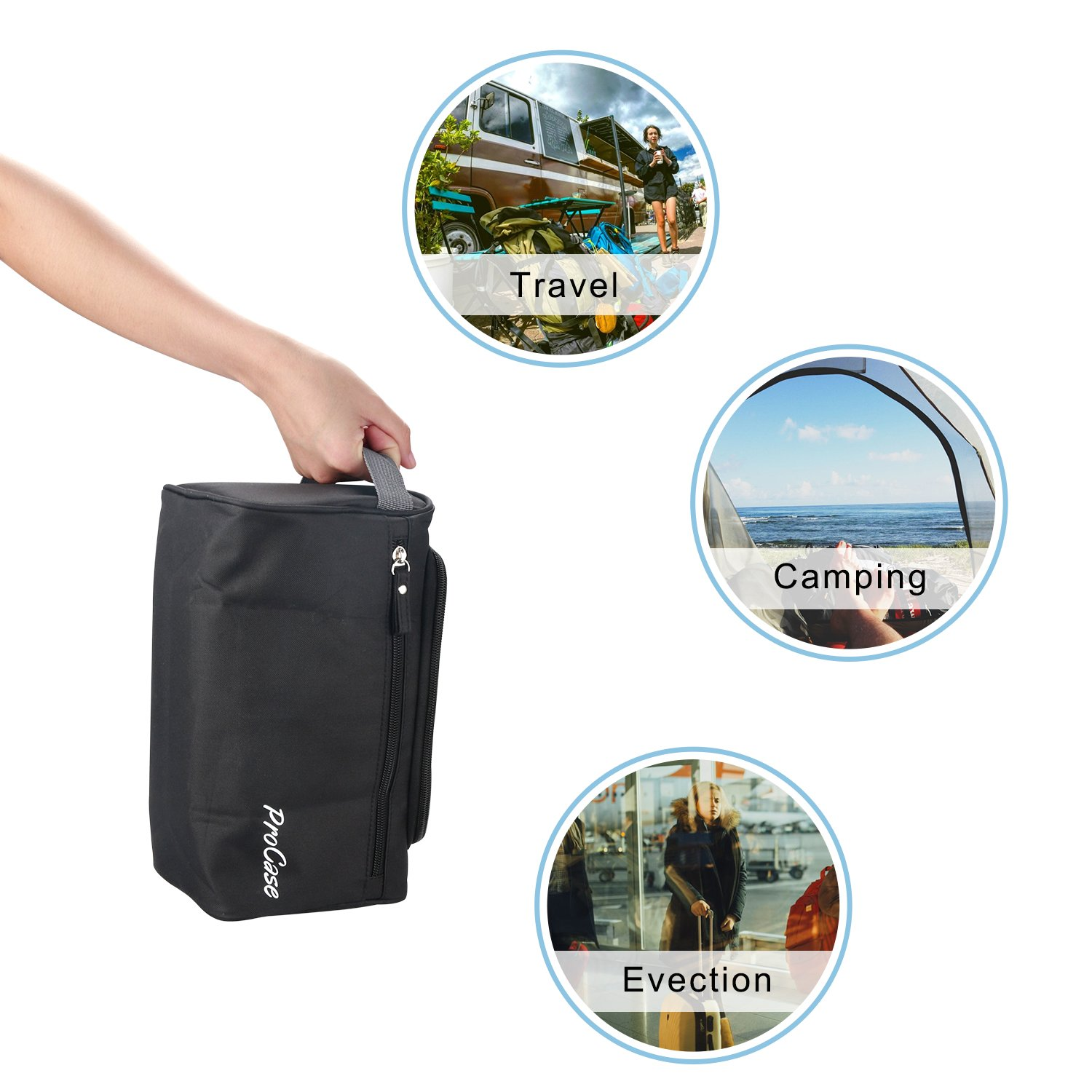 amazon com procase toiletry bag travel case with hanging hook