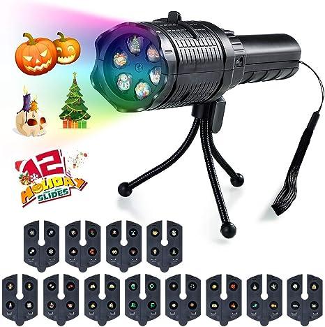Luz de proyector LED, lámpara portátil de proyección de trípode de ...