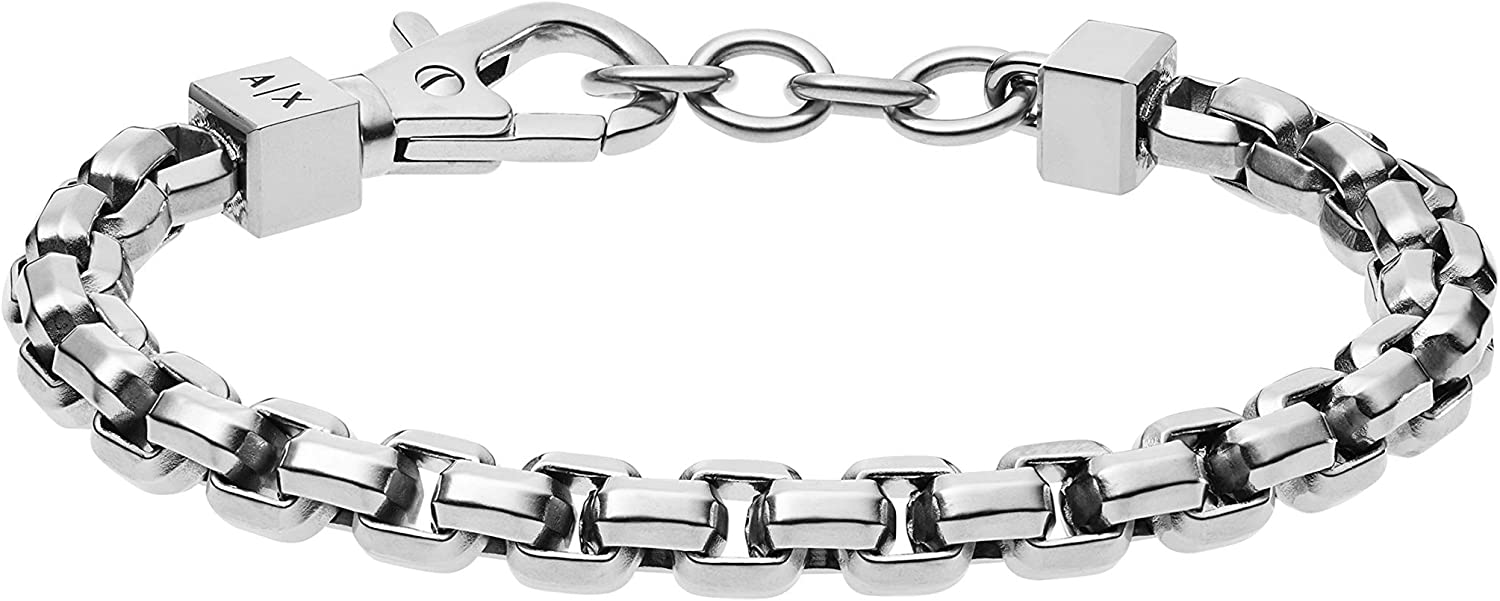 Easy-to-use Virginia Beach Mall Armani Exchange Stainless Bracelet Chain Steel