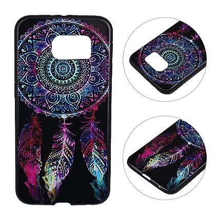 HuaForCity Samsung Galaxy S6 Funda Suave TPU Samsung S6 Carcasa Pintado Diseño Caso Cubierta Cáscara Teléfono Trasera Funda Protectora Capas Cajas ...