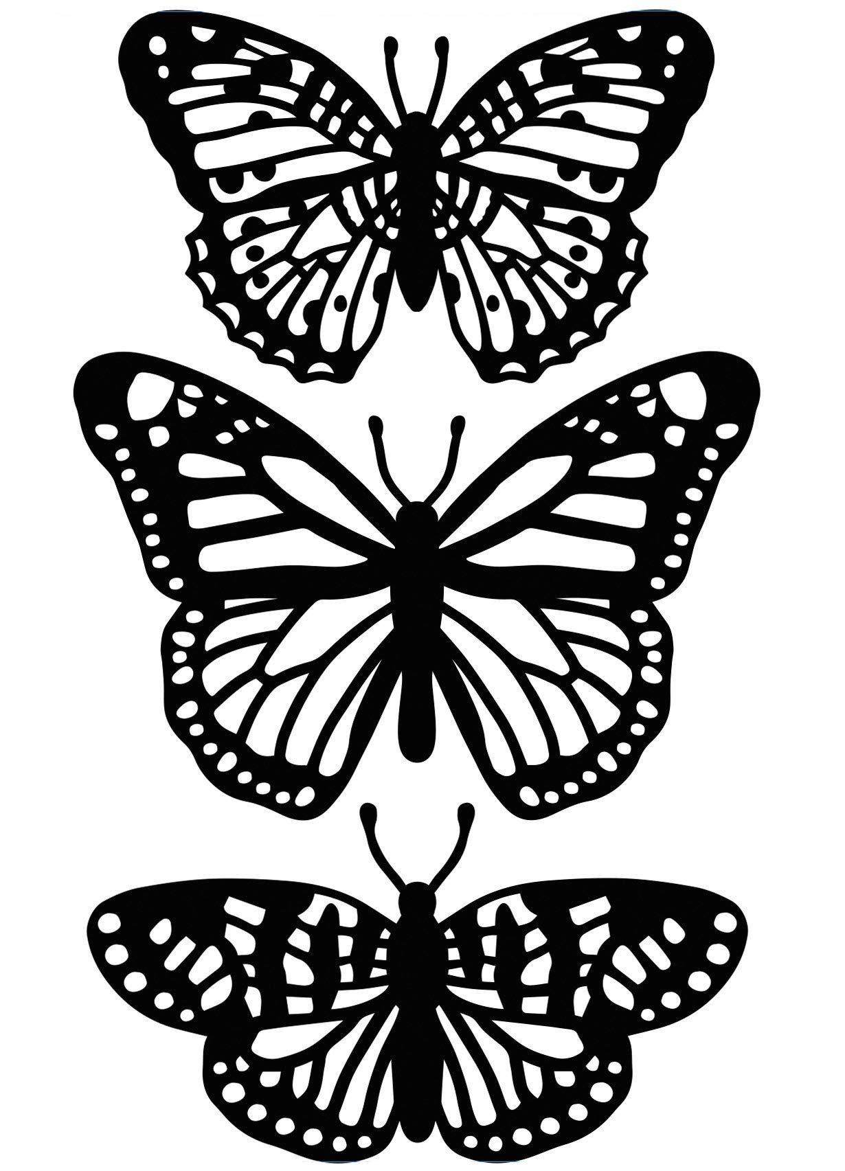 Embossing Folder Butterfly Trio 4.25 X 5.75 Inches (12 Pack)