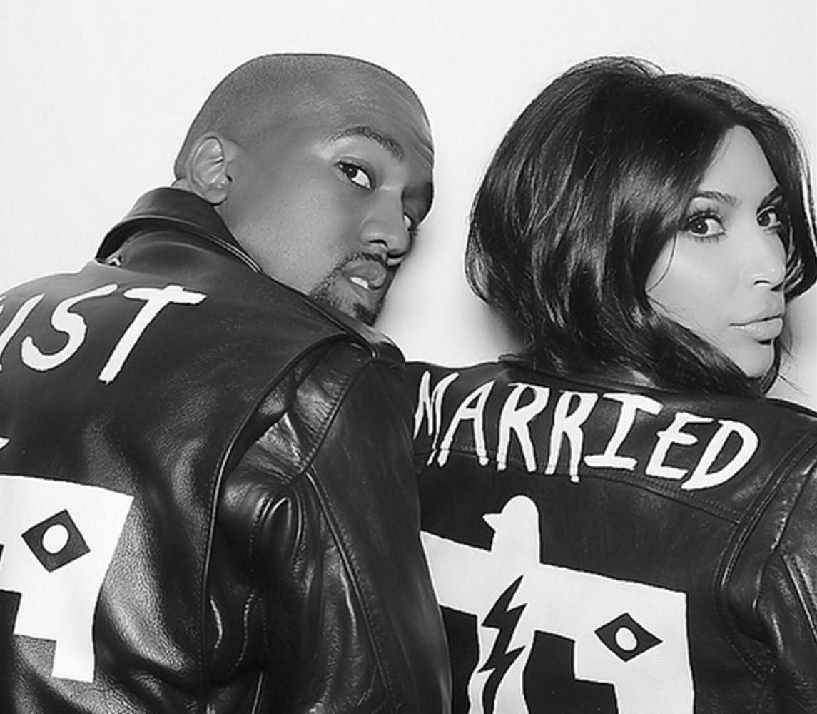Amazon Com Tv Personality Kim Kardashian And Kanye West Just Married Black And White 8x10 Photo Everything Else