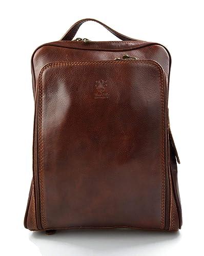 Mochila de cuero bolso de hombre piel bolso de mujer piel bolso de viaje bolso de