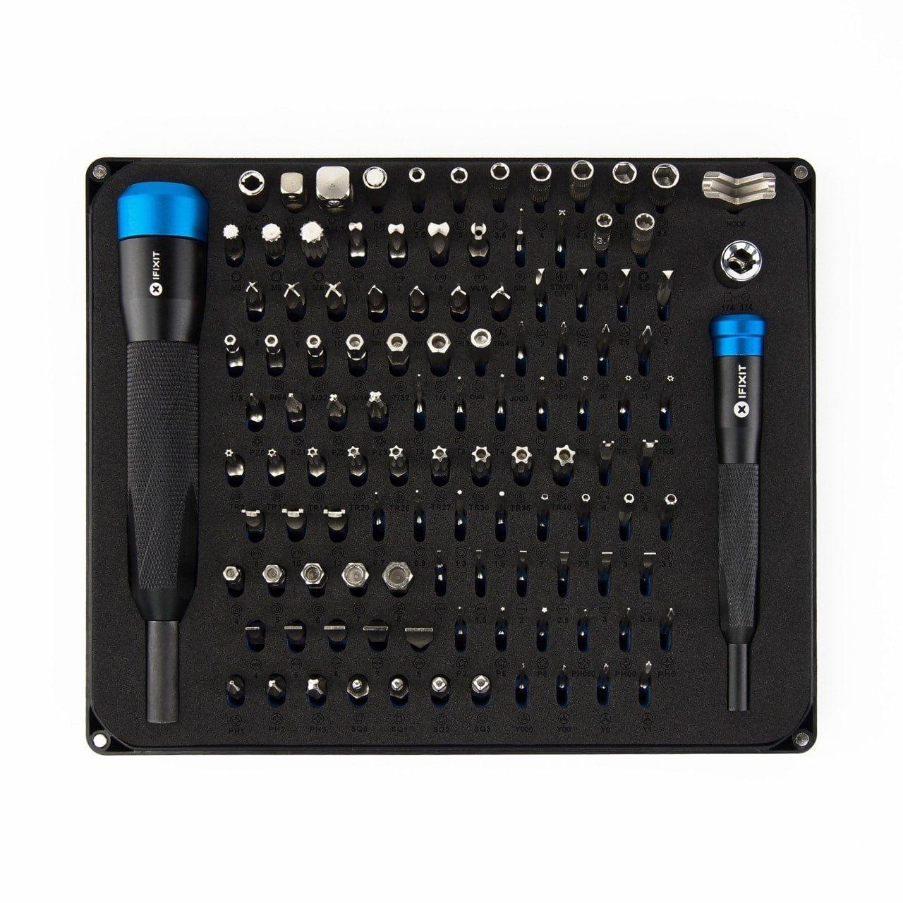 112 Bit Driver Kit aluminium bithalter 4mm laptop macbook iPhone smartphone tablet repair iFixit Manta Driver Kit