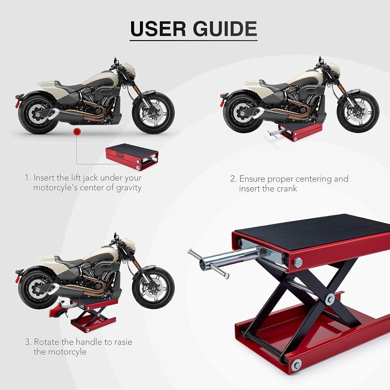 Orion Motor Tech Dilated Scissor Lift Jack for Street Bike, Cruiser, Adventure Touring Motorcycle: Automotive