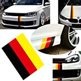 "iJDMTOY (1) 10"" Germany Flag Color Stripe Decal Sticker For Euro Car Audi BMW MINI Mercedes Porsche Volkswagen Exterior or Interior Decoration"