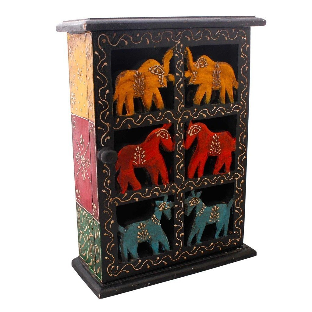 Prataya ome Décor and Home Decorative Handicrafts Items handicrafts decorative arts & crafts Floral Work & Animal Design Wooden Box Wooden Key Holder