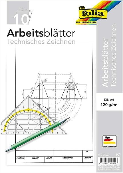 Technisches Zeichnen  DIN A4 20 Bl TZ Arbeitsblätter ZEICHENBLOCK BLOCK