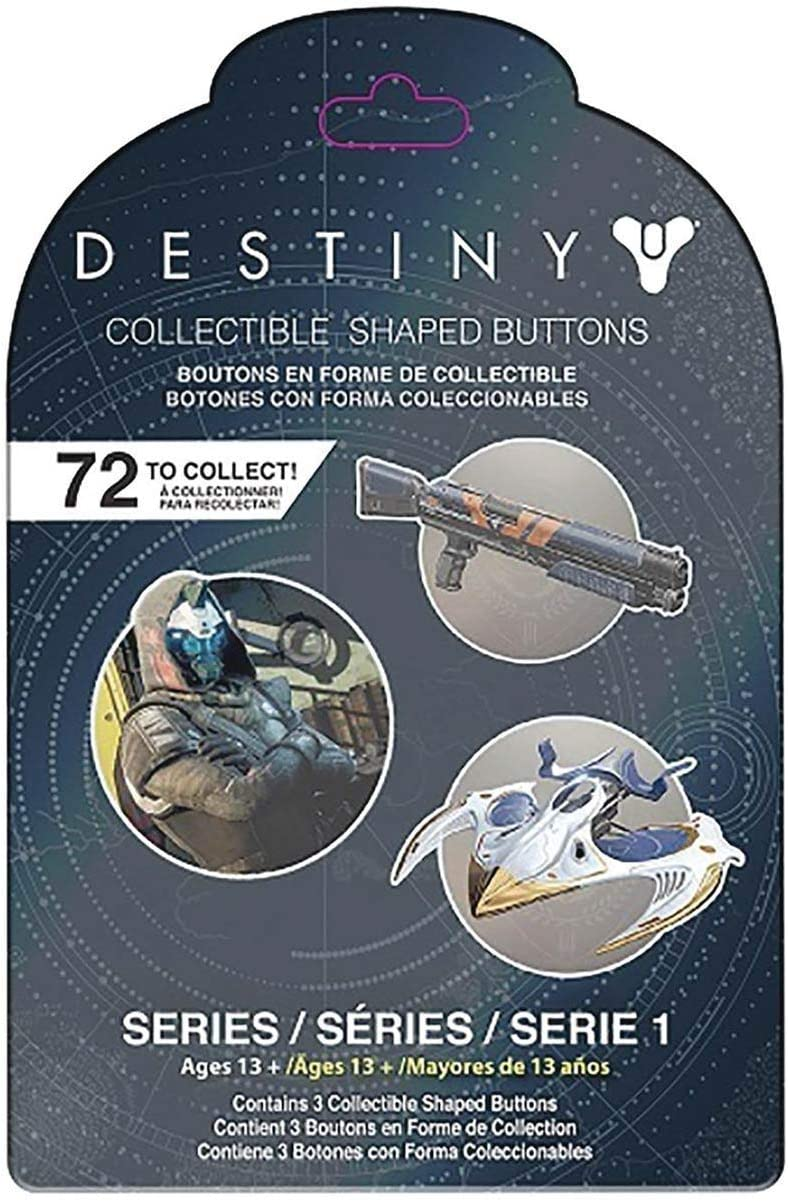 Destiny 3-Pack Button Collectible Pin Blind Mystery