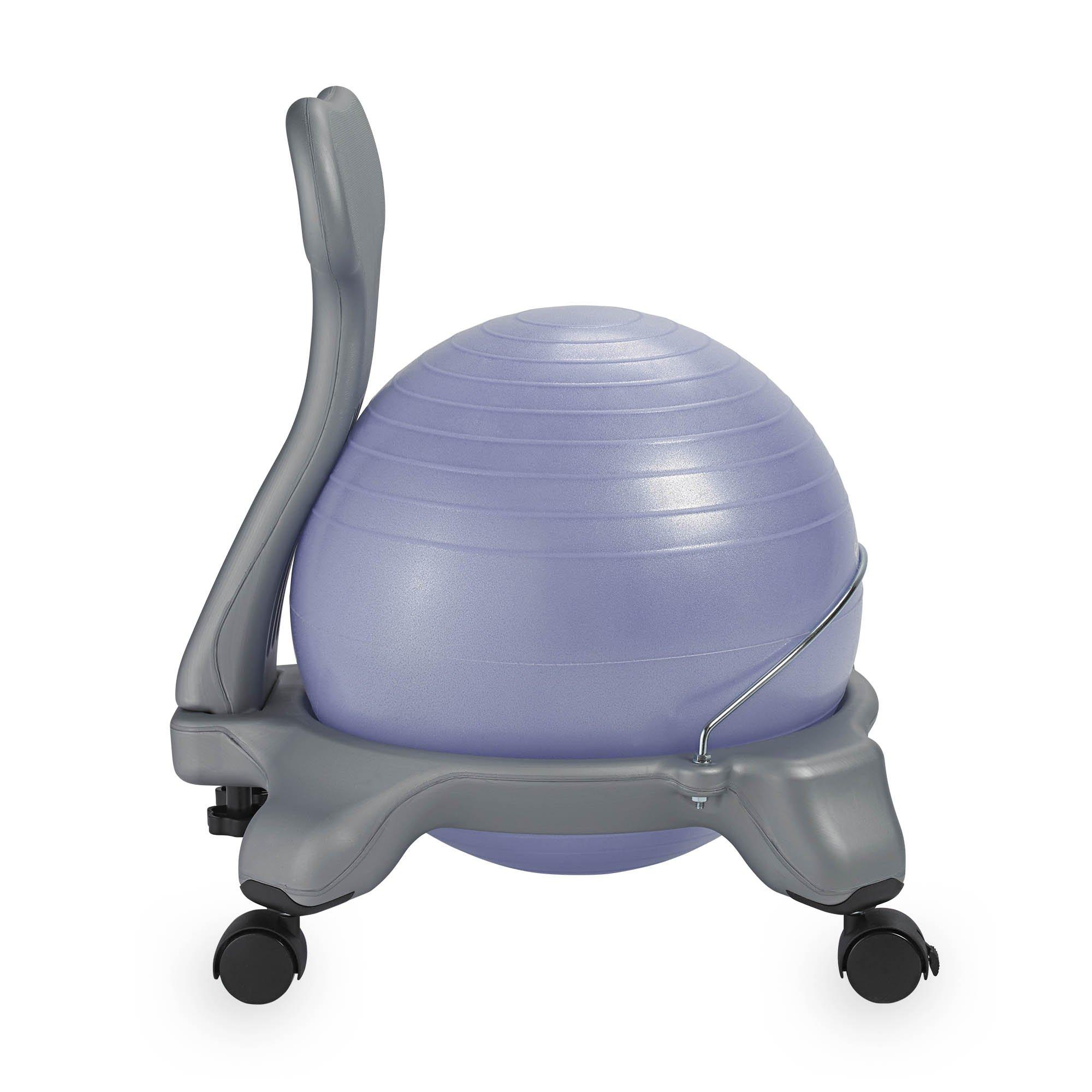 Gaiam Kids Balance Ball Chair Purple