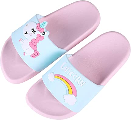 UniCorn Slide Sandals Indoor /& Outdoor Slippers Shoes for kids boys and girls