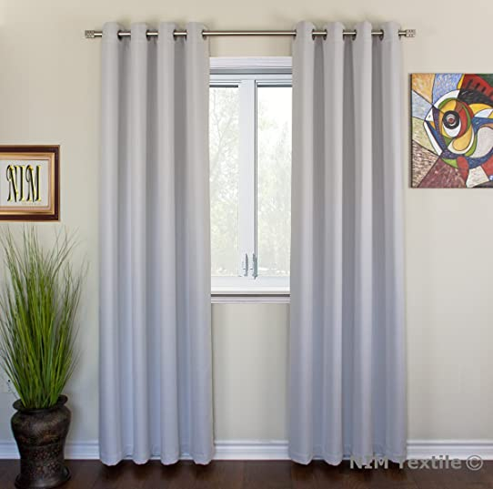 NIM Textile Grommet Curtains Thermal Insulated Blackout Drapes, 110u0026quot;W  X 84u0026quot;L