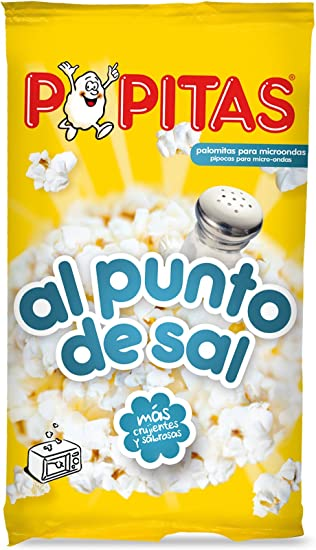 Popitas - Palomitas Saladas Para Microondas, Bolsa 100 g: Amazon ...