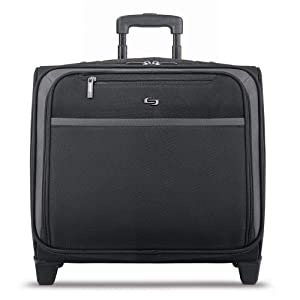 Solo New York Dakota Rolling Overnight Laptop Bag.Business Travel Rolling Overnighter Case for Women and Men. Fits up to 16 inch laptop - Black