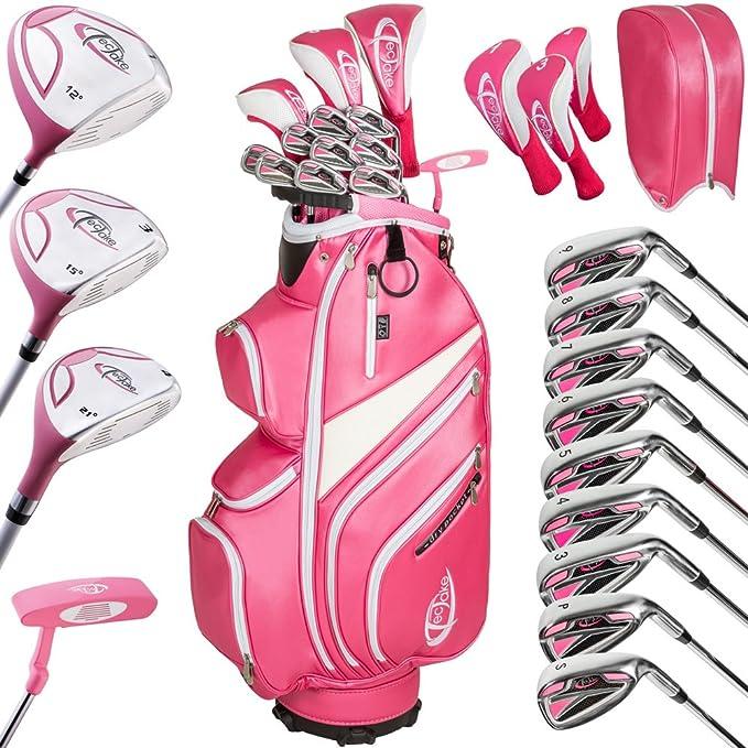 TecTake Set completo de golf 13 palos diestro acero grafito ...