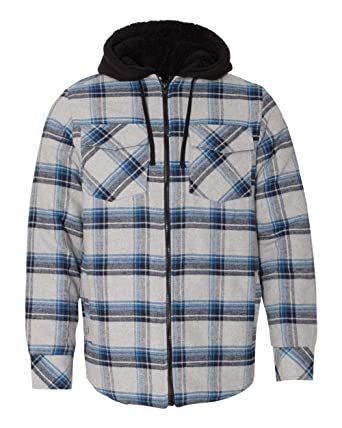 Amazon Com Burnside Men S 8620 Plaid Quilted Lined Flannel Full Zip