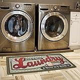Ustide Floor Rug for Laundry Room Nonslip Rubber Backer Mat Floor Runner Durable Cheap Carpet Waterproof Kitchen Mats2x4